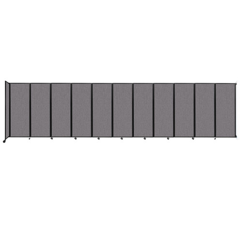 """Wall-Mounted Room Divider 360 Folding Partition 30'6"""" x 7'6"""" Slate Fabric"""