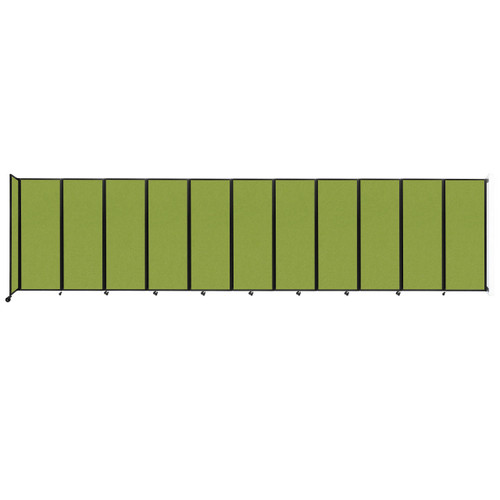 """Wall-Mounted Room Divider 360 Folding Partition 30'6"""" x 7'6"""" Lime Green Fabric"""