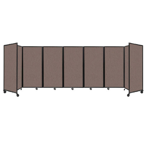 """Room Divider 360 Folding Portable Partition 19'6"""" x 6' Latte Fabric"""