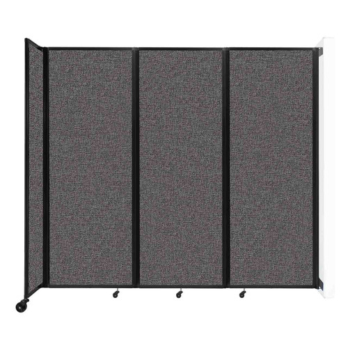 """Wall-Mounted Room Divider 360 Folding Partition 8'6"""" x 7'6"""" Charcoal Gray Fabric"""