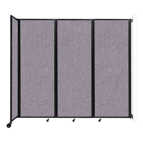 """Wall-Mounted Room Divider 360 Folding Partition 8'6"""" x 7'6"""" Cloud Gray Fabric"""
