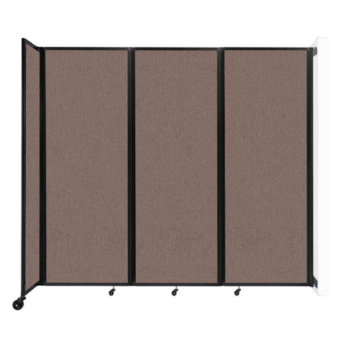 """Wall-Mounted Room Divider 360 Folding Partition 8'6"""" x 7'6"""" Latte Fabric"""