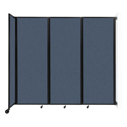 """Wall-Mounted Room Divider 360 Folding Partition 8'6"""" x 7'6"""" Ocean Fabric"""