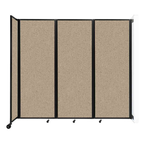 """Wall-Mounted Room Divider 360 Folding Partition 8'6"""" x 7'6"""" Rye Fabric"""