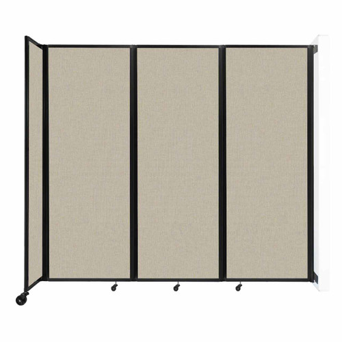 """Wall-Mounted Room Divider 360 Folding Partition 8'6"""" x 7'6"""" Sand Fabric"""