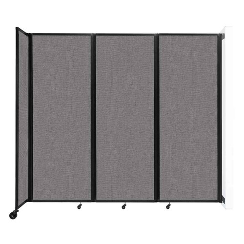 """Wall-Mounted Room Divider 360 Folding Partition 8'6"""" x 7'6"""" Slate Fabric"""
