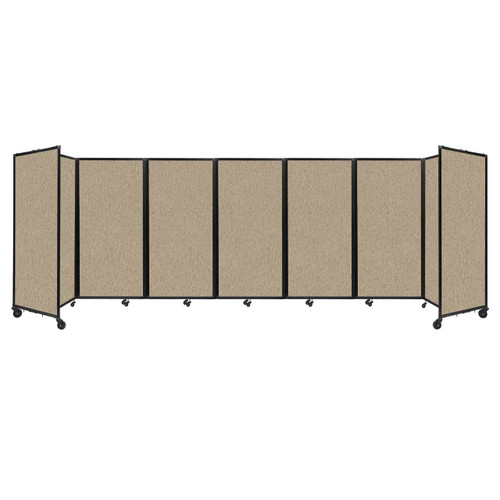 """Room Divider 360 Folding Portable Partition 19'6"""" x 6' Rye Fabric"""