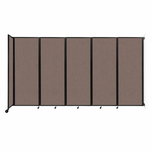 """Wall-Mounted Room Divider 360 Folding Partition 14' x 7'6"""" Latte Fabric"""
