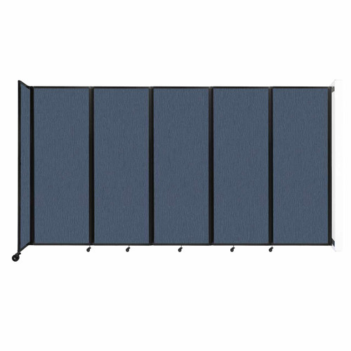 """Wall-Mounted Room Divider 360 Folding Partition 14' x 7'6"""" Ocean Fabric"""