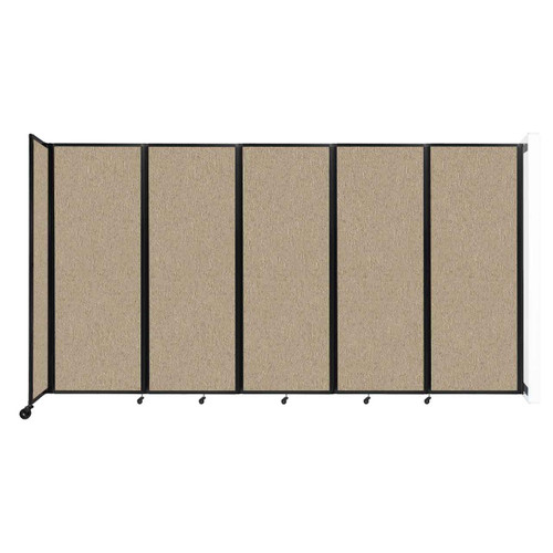 """Wall-Mounted Room Divider 360 Folding Partition 14' x 7'6"""" Rye Fabric"""