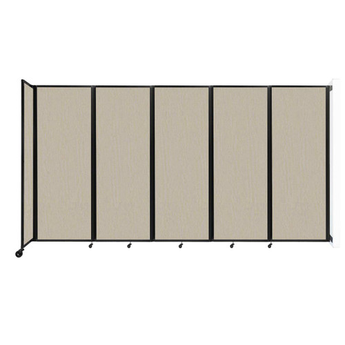 """Wall-Mounted Room Divider 360 Folding Partition 14' x 7'6"""" Sand Fabric"""