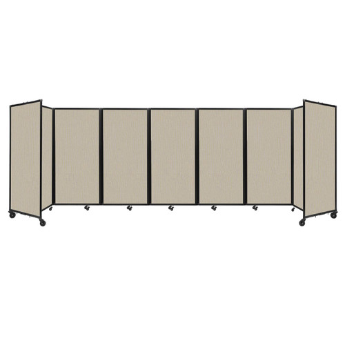 """Room Divider 360 Folding Portable Partition 19'6"""" x 6' Sand Fabric"""