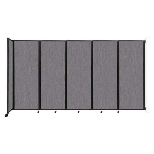 """Wall-Mounted Room Divider 360 Folding Partition 14' x 7'6"""" Slate Fabric"""