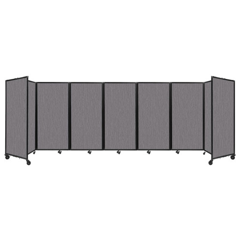 """Room Divider 360 Folding Portable Partition 19'6"""" x 6' Slate Fabric"""