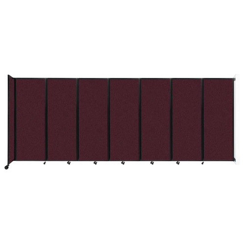 """Wall-Mounted Room Divider 360 Folding Partition 19'6"""" x 7'6"""" Cranberry Fabric"""