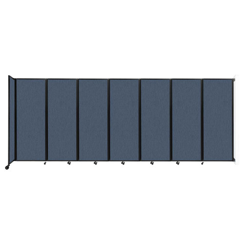 """Wall-Mounted Room Divider 360 Folding Partition 19'6"""" x 7'6"""" Ocean Fabric"""