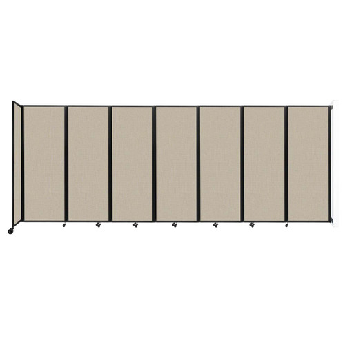 """Wall-Mounted Room Divider 360 Folding Partition 19'6"""" x 7'6"""" Sand Fabric"""