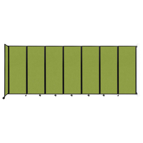 """Wall-Mounted Room Divider 360 Folding Partition 19'6"""" x 7'6"""" Lime Green Fabric"""