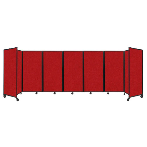 """Room Divider 360 Folding Portable Partition 19'6"""" x 6' Red Fabric"""