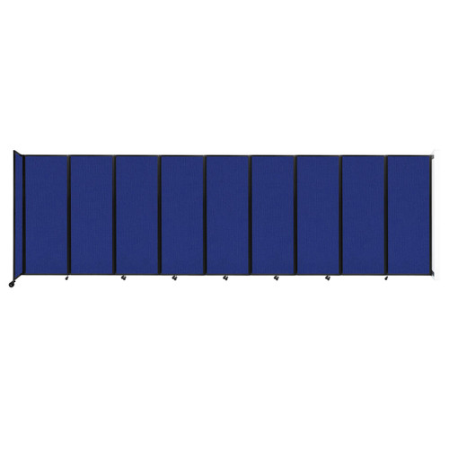 """Wall-Mounted Room Divider 360 Folding Partition 25' x 7'6"""" Royal Blue Fabric"""