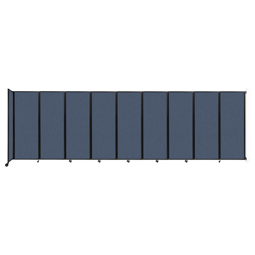 """Wall-Mounted Room Divider 360 Folding Partition 25' x 7'6"""" Ocean Fabric"""