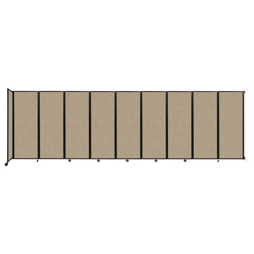 """Wall-Mounted Room Divider 360 Folding Partition 25' x 7'6"""" Rye Fabric"""
