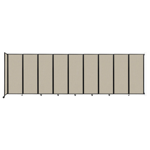 """Wall-Mounted Room Divider 360 Folding Partition 25' x 7'6"""" Sand Fabric"""