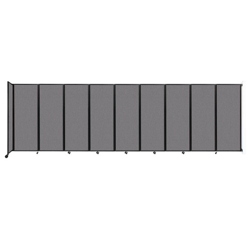"""Wall-Mounted Room Divider 360 Folding Partition 25' x 7'6"""" Slate Fabric"""