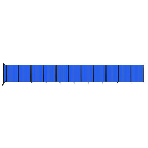 """Wall-Mounted Room Divider 360 Folding Partition 30'6"""" x 4' Blue Polycarbonate"""