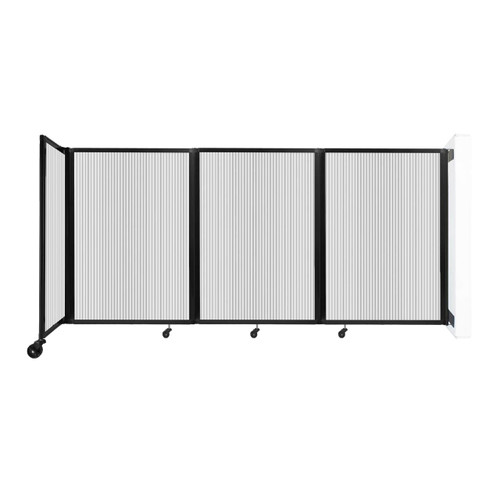 """Wall-Mounted Room Divider 360 Folding Partition 8'6"""" x 4' Clear Polycarbonate"""