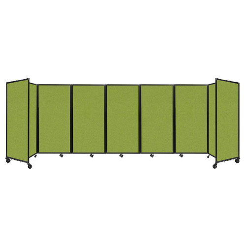 """Room Divider 360 Folding Portable Partition 19'6"""" x 6' Lime Green Fabric"""