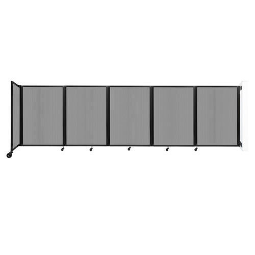 Wall-Mounted Room Divider 360 Folding Partition 14' x 4' Light Gray Polycarbonate