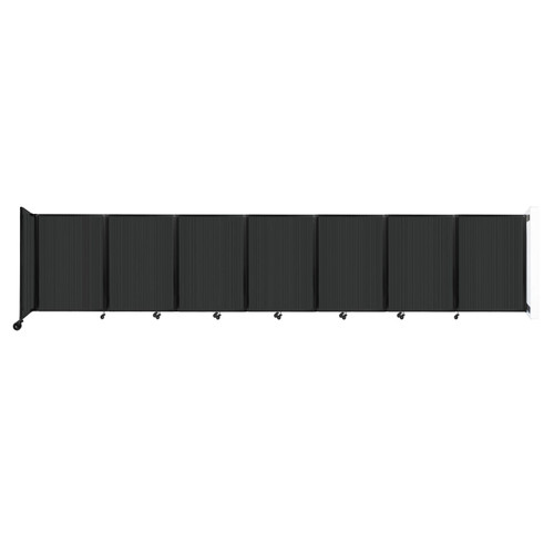 """Wall-Mounted Room Divider 360 Folding Partition 19'6"""" x 4' Dark Gray Polycarbonate"""