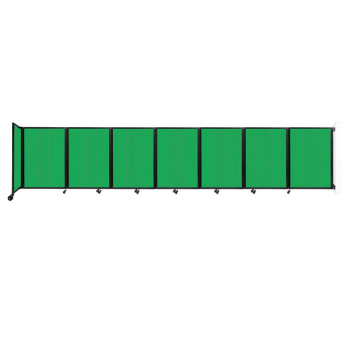"""Wall-Mounted Room Divider 360 Folding Partition 19'6"""" x 4' Green Polycarbonate"""
