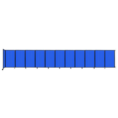 """Wall-Mounted Room Divider 360 Folding Partition 30'6"""" x 5' Blue Polycarbonate"""
