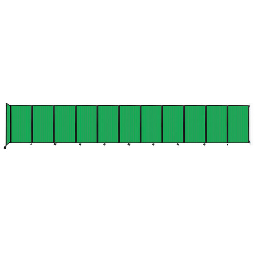 """Wall-Mounted Room Divider 360 Folding Partition 30'6"""" x 5' Green Polycarbonate"""