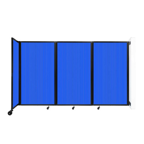 """Wall-Mounted Room Divider 360 Folding Partition 8'6"""" x 5' Blue Polycarbonate"""