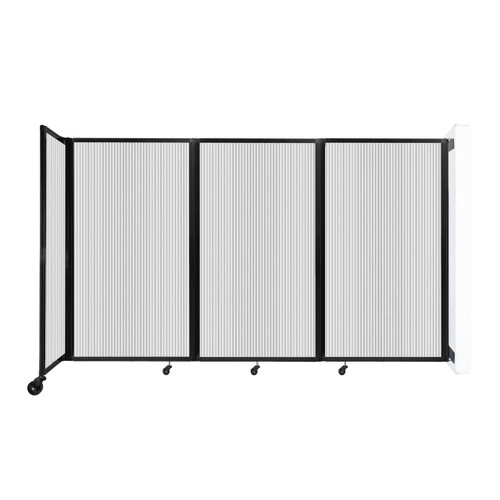 """Wall-Mounted Room Divider 360 Folding Partition 8'6"""" x 5' Clear Polycarbonate"""