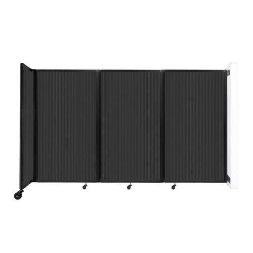 """Wall-Mounted Room Divider 360 Folding Partition 8'6"""" x 5' Dark Gray Polycarbonate"""