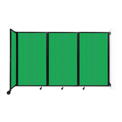 """Wall-Mounted Room Divider 360 Folding Partition 8'6"""" x 5' Green Polycarbonate"""