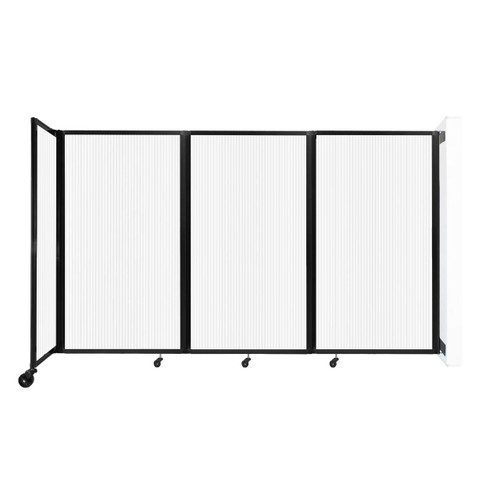 """Wall-Mounted Room Divider 360 Folding Partition 8'6"""" x 5' Opal Polycarbonate"""