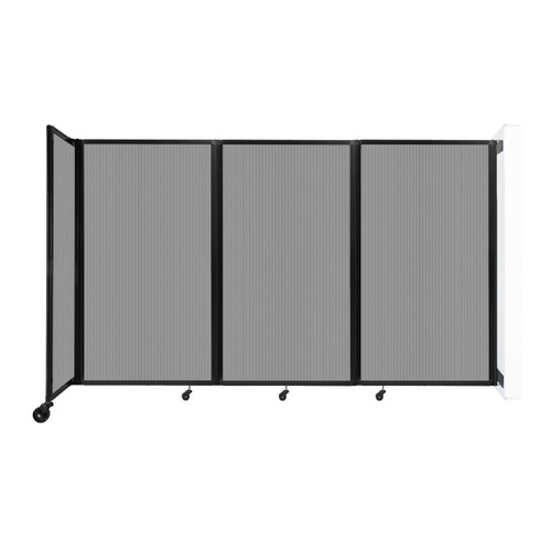 """Wall-Mounted Room Divider 360 Folding Partition 8'6"""" x 5' Light Gray Polycarbonate"""