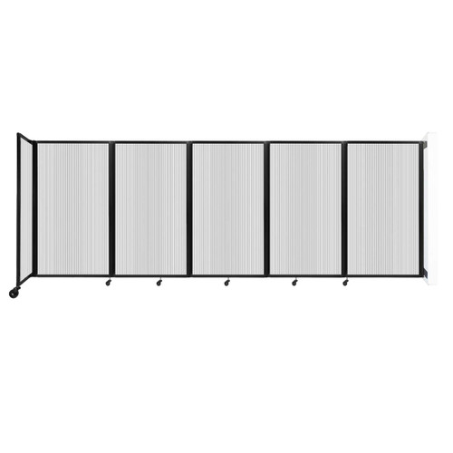 Wall-Mounted Room Divider 360 Folding Partition 14' x 5' Clear Polycarbonate