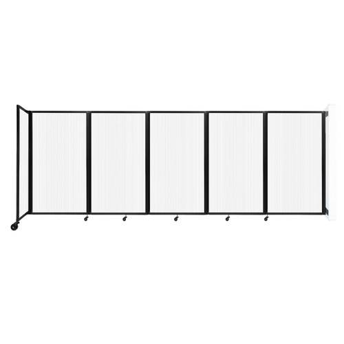 Wall-Mounted Room Divider 360 Folding Partition 14' x 5' Opal Polycarbonate