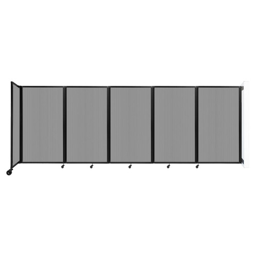 Wall-Mounted Room Divider 360 Folding Partition 14' x 5' Light Gray Polycarbonate