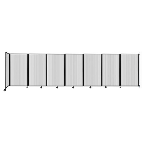 """Wall-Mounted Room Divider 360 Folding Partition 19'6"""" x 5' Clear Polycarbonate"""
