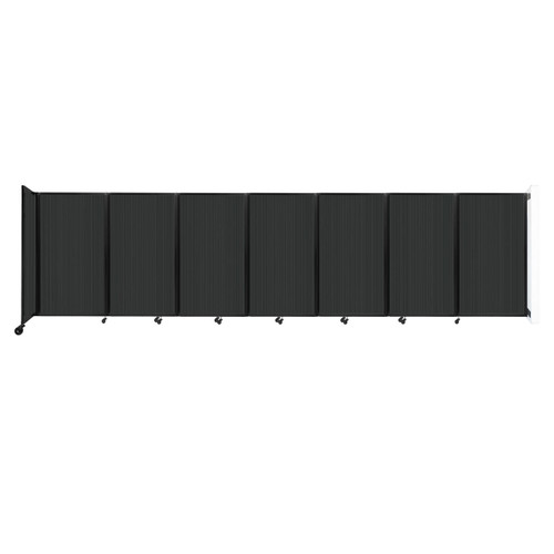 """Wall-Mounted Room Divider 360 Folding Partition 19'6"""" x 5' Dark Gray Polycarbonate"""