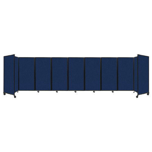 Room Divider 360 Folding Portable Partition 25' x 6' Navy Blue Fabric