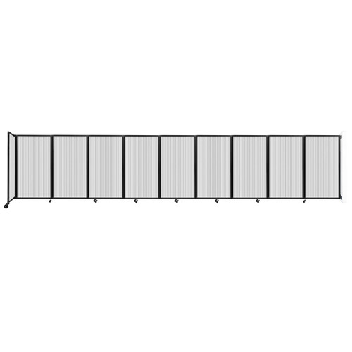 Wall-Mounted Room Divider 360 Folding Partition 25' x 5' Clear Polycarbonate