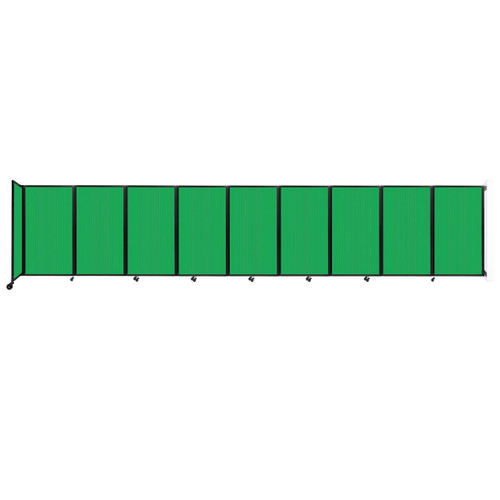 Wall-Mounted Room Divider 360 Folding Partition 25' x 5' Green Polycarbonate
